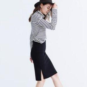 NWOT Madewell Column Side-Slit Skirt in Black